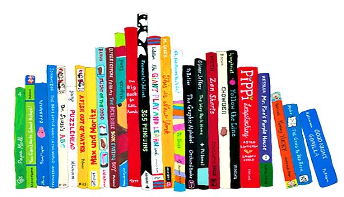 Bibliotecas com seções infantismágicas