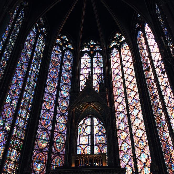 Os vitrais são maravilhosos